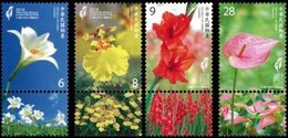 Taiwan 2018 Taichung World Flora Exposition Stamps Lily Orchid Gladioli Flamingo Flower - 1945-... Republic Of China