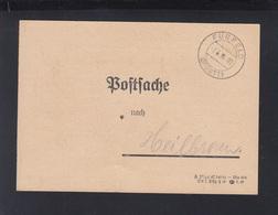 Dt. Reich Postsache Fürfeld 1938 - Covers & Documents
