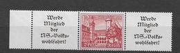 1939 MNH Germany Bauwerke , W141 Postfris** - Zusammendrucke