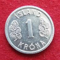 Iceland 1 Krona 1976 KM# 23  Islande Islanda Islandia - Islande