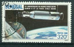 Bm Senegal 1987 MiNr 913 Used | Tenth Anniv Of Gemini 8-Agena Flight - Senegal (1960-...)