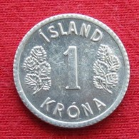 Iceland 1 Krona 1980 KM# 23  Islande Islanda Islandia - IJsland