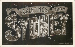 GREETINGS FROM SYDNEY - POSTED IN 1906 NEW SOUTH WALES STAMP  #85844 - Sydney