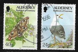 ALDERNEY FAUNA & FLORA DEFINITIVES PAIR - Alderney