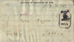 BIGLIETTO CAMPO PRIGIONIERI INDIA POW CAMP 27 YOL 1944 X RADDUSA - Military Mail (PM)