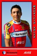 CARTE CYCLISME MAURIZIO SOLER TEAM BARLOWORLD 2008 - Radsport