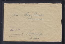 Brief Finanzkasse Alfeld A/Leine Bei Unzureichende Frankatur Nicht Zu Befördern - Briefe U. Dokumente