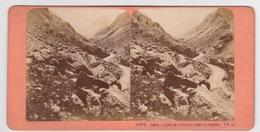 Stereoscopische Kaart.    Camos(Route De Gavernie) Près St.Sauveur) - Cartes Stéréoscopiques