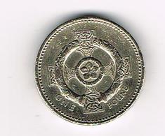 /  GREAT BRITAIN  1 POUND   2001   CELTIC  COLLAR ON CROSS - 1 Pound