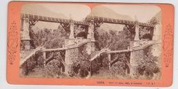 Stereoscopische Kaart.   Pont  De Scia   Près St.Sauveur - Cartes Stéréoscopiques