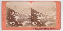 Stereoscopische Kaart.   Vue Générale Des Glaciers Du Mont Perdu Et Du Cirque De Gavernie ,prise Du Sommet Du Pic Du Mi - Cartes Stéréoscopiques