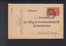 Dt. Reich AOK Anmeldung Berlin Nach Niederbarnim - Briefe U. Dokumente