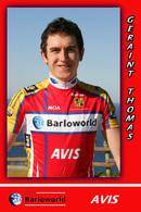 CARTE CYCLISME GERAINT THOMAS TEAM BARLOWORLD 2008 - Radsport
