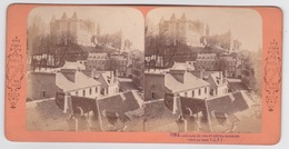 Stereoscopische Kaart.    Château De PAU Et Hôtel Gassion. Pris Du Parc(J.A) - Cartes Stéréoscopiques