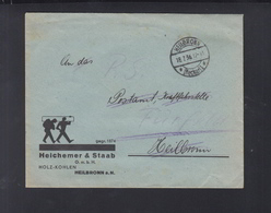 Dt. Reich Brief 1936 Heilbronn An Postamt Fürfelden Werbung Holz-Kohlen - Deutschland