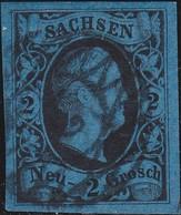 Sachsen       .   Michel   5  ( 2 Scans )       .      O     .    Gebraucht     .   /   .   Cancelled - Sachsen