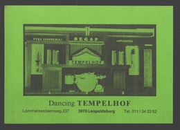 Leopoldsburg - Dancing Tempelhof - Reclame Flyer - Postkaartformaat - Leopoldsburg