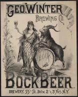@@@ MAGNET - Geo. Winter Brewing Co., Bock Beer - Publicitaires