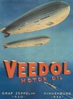 @@@ MAGNET - VEEDOL MOTOR OIL. 1936, GRAF ZEPPELIN, HINDENBURG - Publicitaires