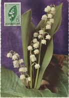 Yougoslavie Carte Maximum Fleurs 1963 Muguet 931 - Cartes-maximum