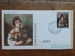 SAN MARINO - Caravaggio 1960 - Viaggiata Con Annullo Arrivo + Spese Postali - FDC
