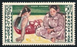 POLYNESIE 1958 - Yv. PA 2 **   Cote= 11,50 EUR - Tableau Tahitienne Au Bord De Mer (Gauguin)  ..Réf.POL23539 - Posta Aerea