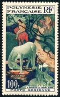 POLYNESIE 1958 - Yv. PA 3 **   Cote= 19,00 EUR - Tableau Le Cheval Blanc, Par Gauguin  ..Réf.POL23543 - Poste Aérienne