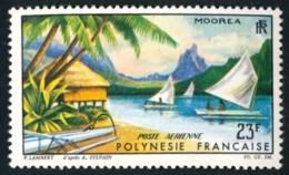 POLYNESIE 1964 - Yv. PA 9 **   Cote= 13,00 EUR - Paysage De Moorea  ..Réf.POL23549 - Posta Aerea