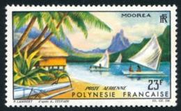 POLYNESIE 1964 - Yv. PA 9 **   Cote= 13,00 EUR - Paysage De Moorea  ..Réf.POL23550 - Aéreo