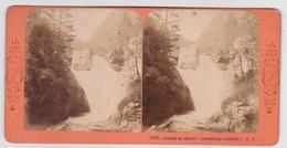 Stereoscopische Kaart.    Cascade Du Gérizet.  (Environs De Cauterets (J.A) - Cartes Stéréoscopiques