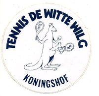 Tennis De Witte Wilg Koningshof Kangoeroe Kangaroo  Autocollant Sticker Sport - Autocollants