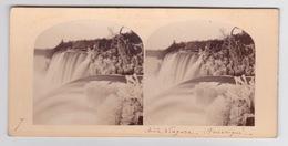 Stereoscopische Kaart.   American Fall Niagara. - Cartes Stéréoscopiques