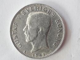 1 Krone Gustaf V Suède Sweden 1941 - Suède