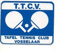 Sticker  Autocollant Tafeltennis Pingpong  Club Vosselaar TTCV Sport - Autocollants