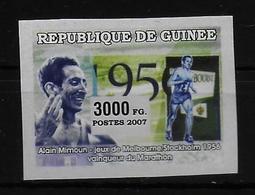 GUINEE  N° 2912 * * NON DENTELE Course Marathon Mimoun - Athlétisme