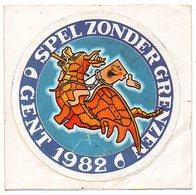Sticker  Gent Spel Zonder Grenzen 1982 Autocollant - Autocollants