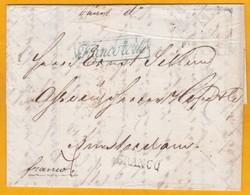 1847 - Lettre Pliée De Riga, Lettonie, Russie Vers Amsterdam, Pays Bas En Port Payé (franco) - Lettonie