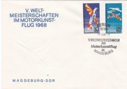 DDR FDC 1968 V. Weltmeisterschaften Im Motorkunstflug (DD5-25) - Timbres