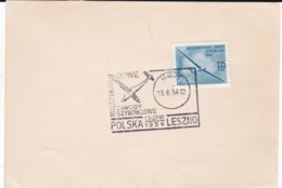 Poland Card 1954 Leszno Glider Competition - Zawody Szybowcowe (DD5-25) - Timbres