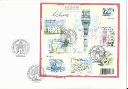 2009- N° F 4402- Feuillet Capitales Européennes- Lisbonne (Portugal)-oblitéré 1ier JourAnnée 2009 - Oblitérés