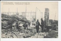 Bruxelles - Exposition - L'incendie Des 14-15 Aout 1910 - Bruxelles - Kermesse - La Fontaine Du Cracheur - Belgien