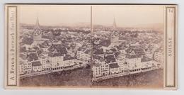 Stereoscopische Kaart.    SUISSE.  Panorama De ZURICH - Cartes Stéréoscopiques