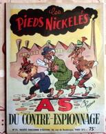 """Plaque Métal """"Les Pieds Nickelés"""" Du Contre-Espionnage - Advertising (Porcelain) Signs"""
