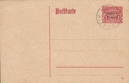 Bayern Postal Stationery Ganzsache (19) Dienstsache Volksstadt Bayern Overprinted Blanco THIERSHEIM 1919 - Ganzsachen