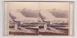 Stereoscopische Kaart.    SUISSE.  Glacier Du Rhône.  Valais Supèrieur. - Cartes Stéréoscopiques