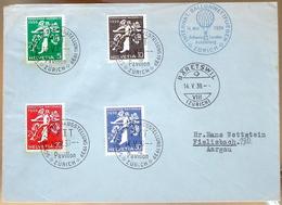 Schweiz Suisse 1939: BALLON-WETTFLIEGEN Zur EXPO Mit Zu 234-237 Mi 350-353 Yv 331-335 O ZÜRICH Bis BÄRETSWIL 14.V.39 - Lettres & Documents