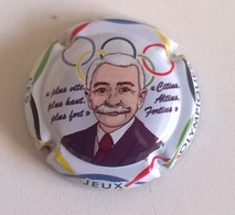 """Plaque De Muselet De Champagne """" Pierre De COUBERTIN - Jeux Olympiques """" - Champagne"""