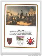 Belgique 1986 - 2 Feuillets (militaires) émis Pour Les 150 Ans D'Artillerie De Campagne (superbe) - Kleinbögen