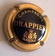 """Plaque De Muselet De Champagne """" DRAPPIER - Noir Et Or """" - Champagne"""