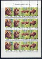 POLAND 1996 Bison Sheetlet MNH / **  Michel 3629-32 - Blocks & Sheetlets & Panes